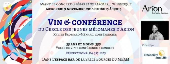 Vin & Conférence.